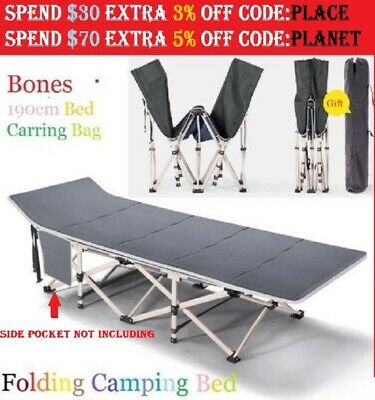 Portable Fold Single Foldable Folding Bed Recliner Camping Travel Stretcher