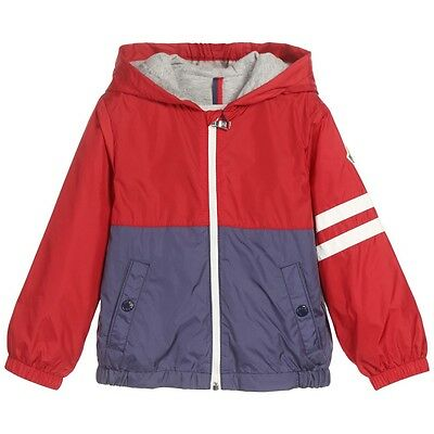 Moncler Baby Boys Red And Blue Elia Windbreaker Jacket 12-18 Months