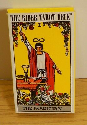 Rider Waite ORIGINAL Tarot Cards Deck 78 Cards REGULAR size Instructions Art