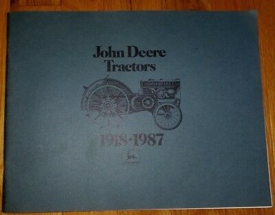 1918-1987 John Deere Tractors Pictorial History Book All Models Illustrations