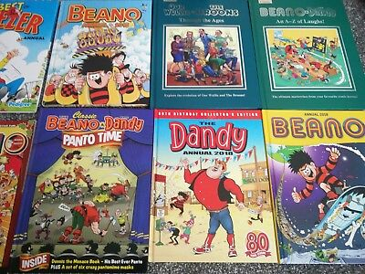 Large Collection Old Vintage Beano Dennis Menace Comic Annual Books 1970/80s