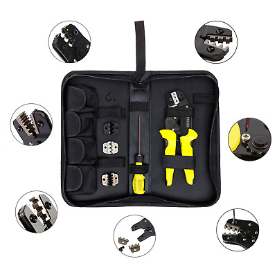 Professional 4in1 Wire Crimper Multi Tools Ratchet Terminal Crimping Plier Cable