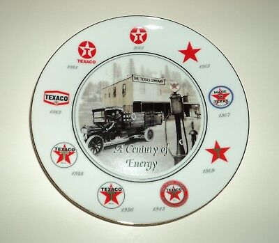 "TEXACO Employees 7½"" Porcelain Collectors Plate: ""A Century of Energy"" MINT"