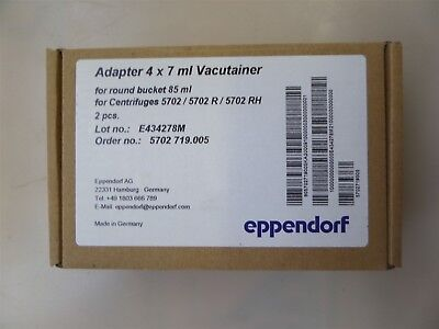 Eppendorf 2 Pieces 022639242 Adapter 4 x 7 ml Vacutainer for 5702