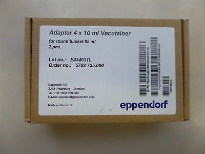 Eppendorf 2 Pieces 022639269 Adapter 4 x 10 ml Vacutainer for 5702
