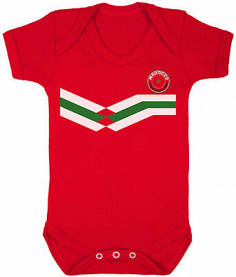 MOROCCO World Cup 2018 BABYGROW FOOTBALL New Style Retro