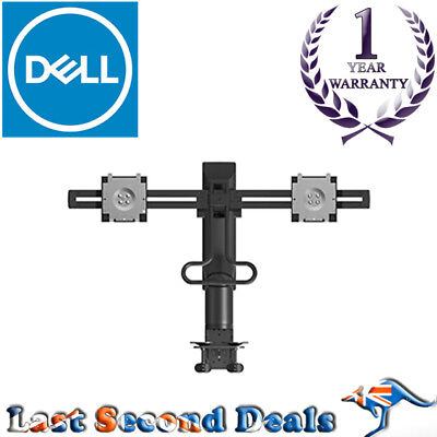 Dell Mda17 Dual Monitor Arm Desk Clamp Stand With Vesa Adaptor, 1Yr Wty