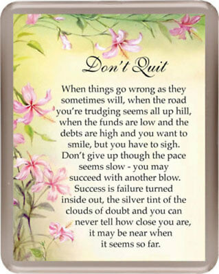 Don't Quit Verse Prayer Inspirational Religious Large Fridge Magnet Others Avail