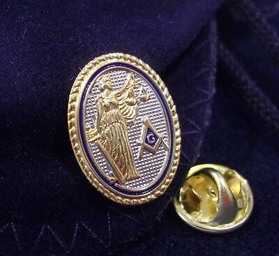 Masonic Freemason Legal Profession Attorney Lawyer Law Lapel Pin Plus Gift Pouch