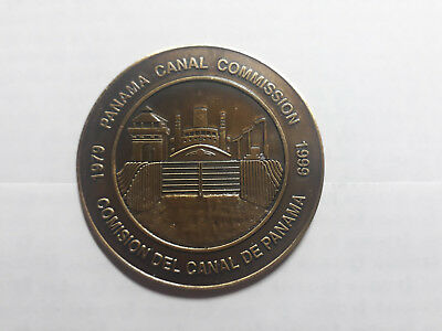 Panama  Canal Medal Commission 1979-1999To Commemotate Transition 04076 Rare