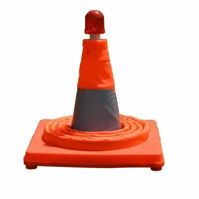 Telescopic Folding Road Cone Barricades Warning Sign Reflective Oxford Traffic C