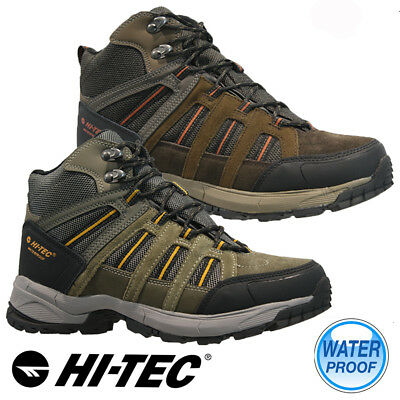 Mens Hi Tec Waterproof Walking Hiking Winter Work Ankle Boots Shoes Trainers