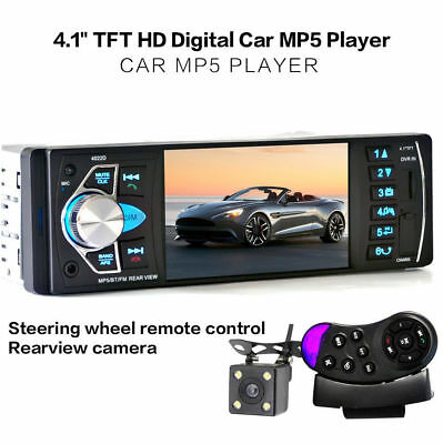 "4022D 4.1"" HD 1DIN Bluetooth Autoradio MP5 AUX FM  Retrocamera"