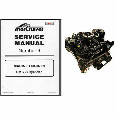1985-1986-1987-1988 MerCruiser # 9 GM V-8 Marine Engines Service Manual CD
