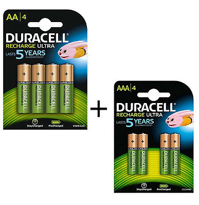 Genuine Duracell Combi Pack  Aaa+Aa Rechargeable Battery Precharged Last 5 Years