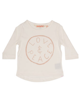 New Munster Kids Kids Baby Dream Ls Tee Long Sleeve Cotton Soft Natural