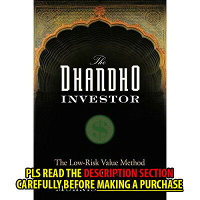 FAST SHIP: The Dhandho Investor: The Low-Risk  1E by Mohnish Pabr