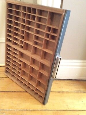Printers Drawer Tray, Vintage Antique Typesetter style