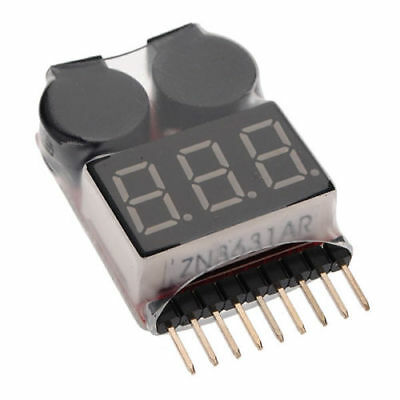 5pcs RC Lipo Battery Low Voltage Alarm 1S-8S Buzzer Checker Tester LED Indicator