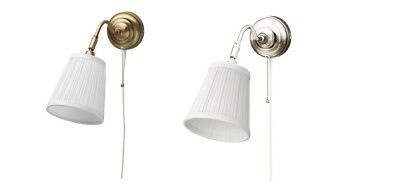 Wall lamp ÅRSTID  Brass/Nickel-plated White, IKEA Brand Energy Rating A++  to D