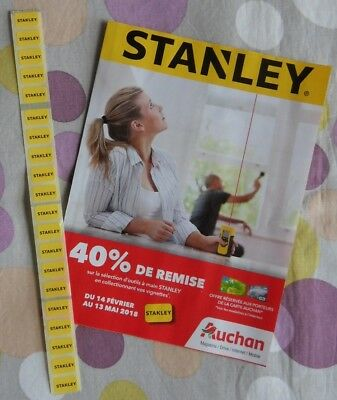 °☆☆ 20 timbres / STANLEY ~ Auchan - Epargne - Outils à main ☆☆°