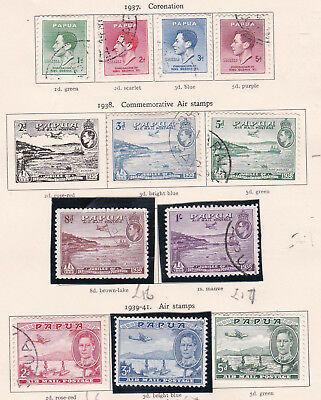 British Commonwealth. Papua. George VI 1937-39 issues. Used.