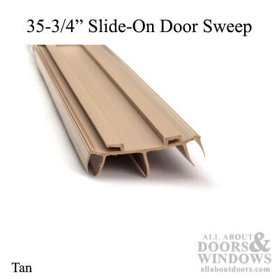 "Door Bottom / Sweep, for Pease Doors - Slide-On 35-3/4"" Long - Tan"
