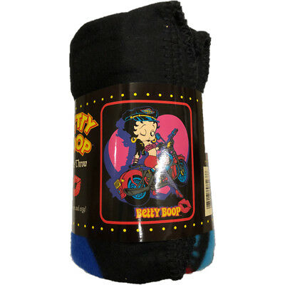 "Betty Boop Biker Betty Fleece Throw Blanket 50"" x 60"""