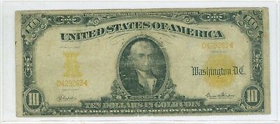1907 $10 *NAPIER-THOMPSON* + Low Serial Number Gold Certificate Fr 1170 RARE!!!