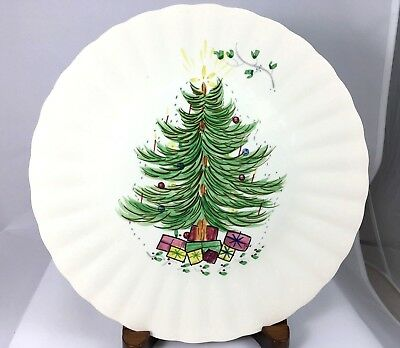 Blue Ridge Southern Potter Christmas Tree Plate with stand