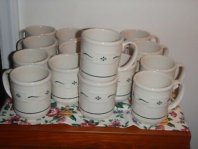 One Longaberger Pottery Woven Traditions Heritage Green MUG