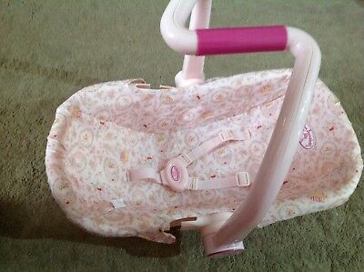 BABY ANNABELL Car Seat / Carrier - £8.00 | PicClick UK