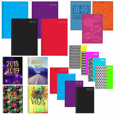 Academic 2018 2019 Week To View Student Diary - A5 / A4 - Choose Design