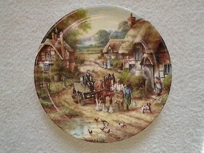 """Wedgwood 8"""" Collectors Plate - Country Days Collection - Early Morning Milk."""