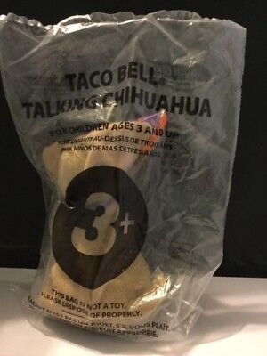 """Taco Bell Chihuahua """"Happy New Year, Amigos!"""" Talking Dog Sealed Bag working"""