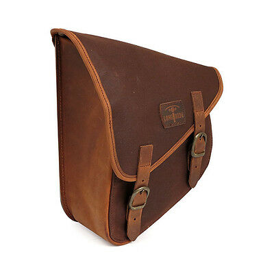 longride to Wield Saddlebag Made of waxcotton Brown, For Harley-Davidson Softail