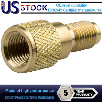 """R134a Brass Adapter 1/4"""" Male 1/2"""" ACME Female Charging Hose to Vacuum Pump Good"""