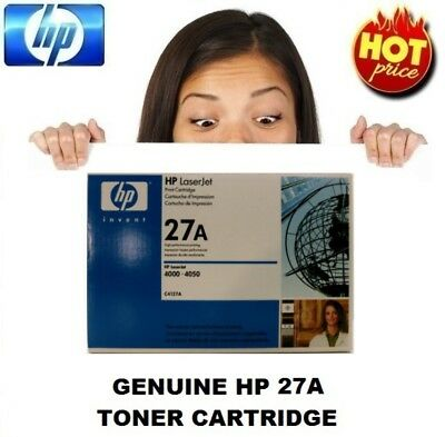 Genuine HP 27A Toner Cartridge C4127A For 4000 & 4050 Series (Low Yield C4127X)