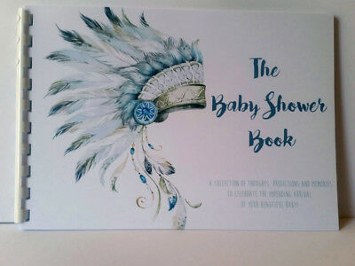 Tribal Baby Book, Baby shower Keepsake, Guest Predictions, Advice, Message Book