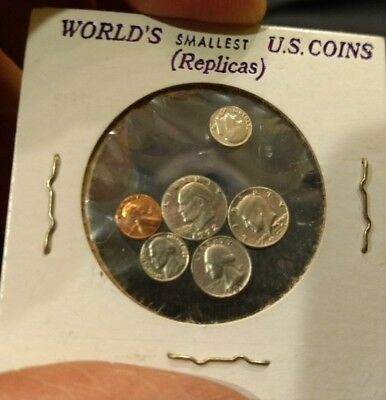 NOVELTY WORLD'S SMALLEST US COINS - LINCOLN, KENNEDY, IKE-SET OF 7 Last one