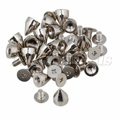 Silver Punk Spikes Nailhead Rivet Cone Studs for DIY shoes jacket Leather Craf