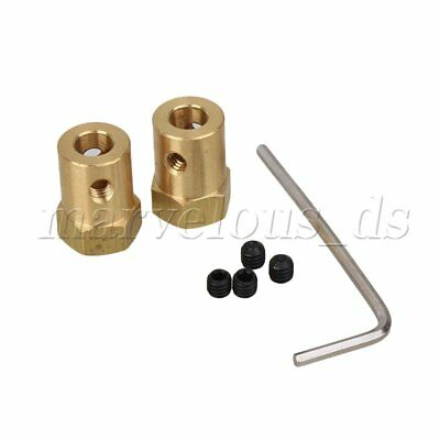 6mm Brass Shaft Motor Flexible Coupling Coupler For DC Motor Robot DIY Pack of 2