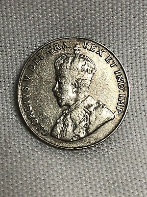 1925 5 Cents Canada Key Date VG/F