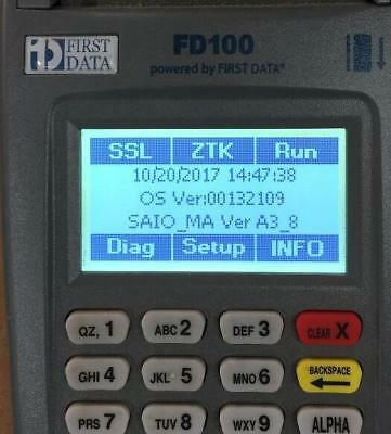 First Data FD100 Credit Card Terminal w/ Power .used works