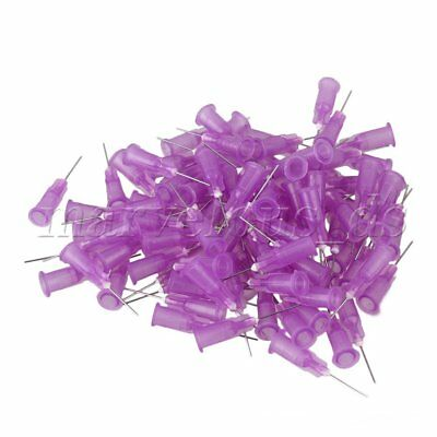 100PCS Purple Stuck Connector Dispenser 24Ga 1/2 inch Steel Blunt Needle