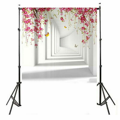 US 3X5ft Flower Butterfly Corridor Photography Backdrop Wedding Party Decors NEW