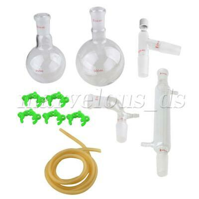 500ml 24/40 Lab Glass Distillation Apparatus Chemistry Glassware Kit