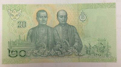 Thailand King Rama X Vajiralongkorn banknote price 20 baht Thai paper money 2018