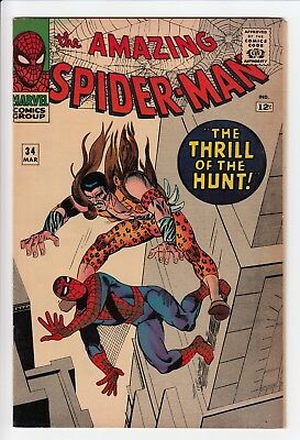 Amazing Spider-Man #34 Vol 1 Near Perfect High Grade Kraven the Hunter Appears