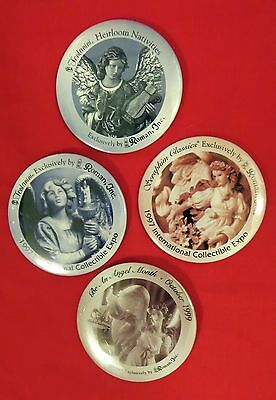 VINTAGE FONTANINI Collectors pinback BUTTONS LOT OF 4 Roman Inc EC 3""